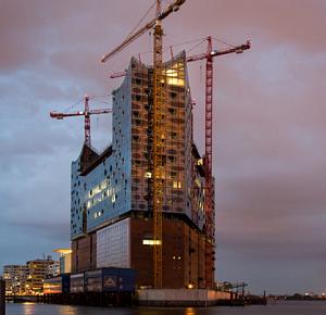 Elbphilharmonie in aanbouw