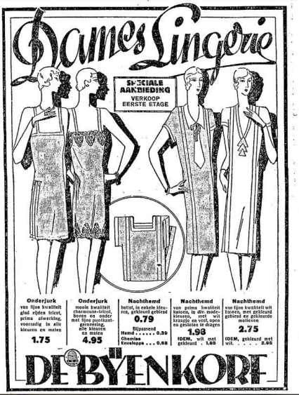Dames lingerie 1929
