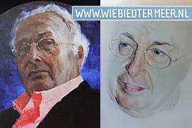 rechts het gewraakte portret van Joop Rubens