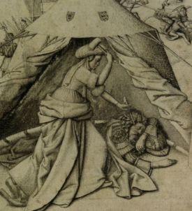 Jael, pentekening ca. 1440 maker onbekend