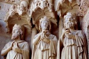 De drie konijnen (koningen!) kathedraal van Amiens