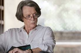 Maggie Smith in The Exotic Marigold Hotel met een andere beroemde one liner: If I can't pronounce it, I don't want to eat it'.