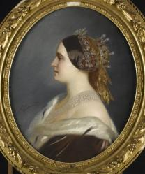 Mathilde in 1861, schilderij van Edouard Louis Debufe