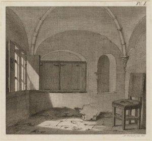 tekening 'ijzeren kapel' (Stadsarchief)